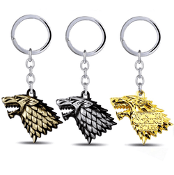 Game of Thrones House Stark Direwolf Keychain, Keychain, Mokelli