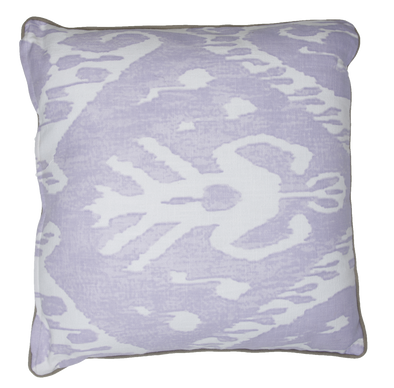 Double sided  ZULU CUSHION - Misty Lilac/ Chalk Pink