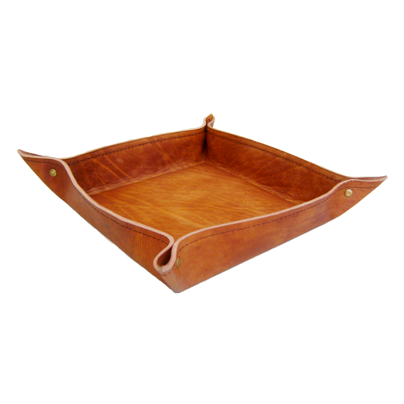 100314	Leather Tray -Camel colour