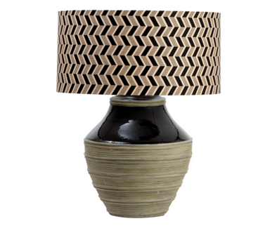 110130 Trophy Lamp w/ chevron shade (526034)