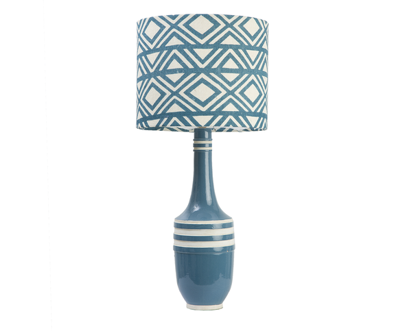 110131 Blue Aztec Lamp w/ Teal Aztec shade (223056/526032)