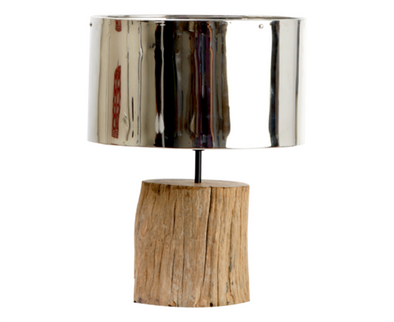130001 Le-Trunk Lamp w/ Brass Shade