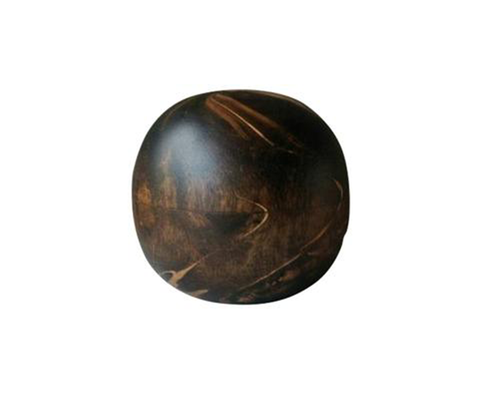 130150 Black Marbled Wood Ball