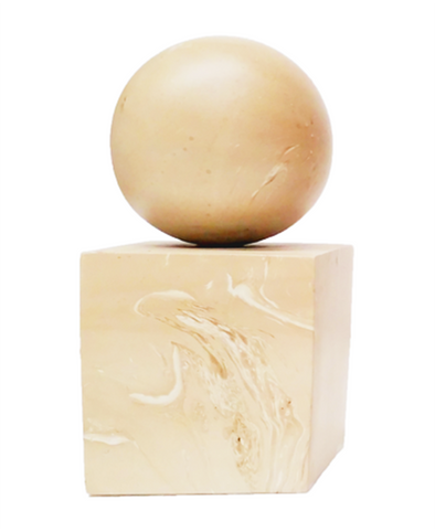 130153 White Marbled Wood Bookend and paper weight