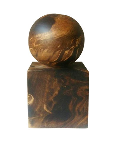 130154 Black Marbled Wood Bookend and Paper weight