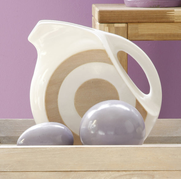 160174 White Circle Jug, 2 tones