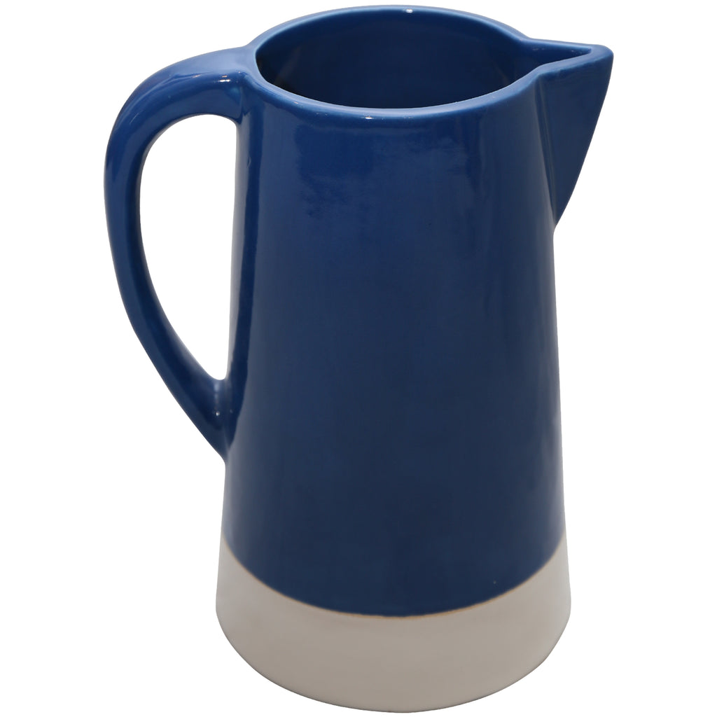 160254	Marine Blue Ceramic Pitcher