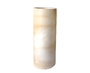 160389	Elle White Candle Holder - LARGE