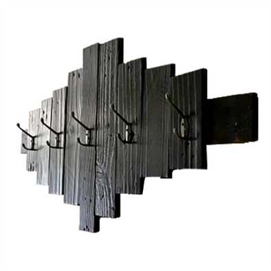 170120	Wall Mounted Coat Rack in Shou Sugi Ban Finish
