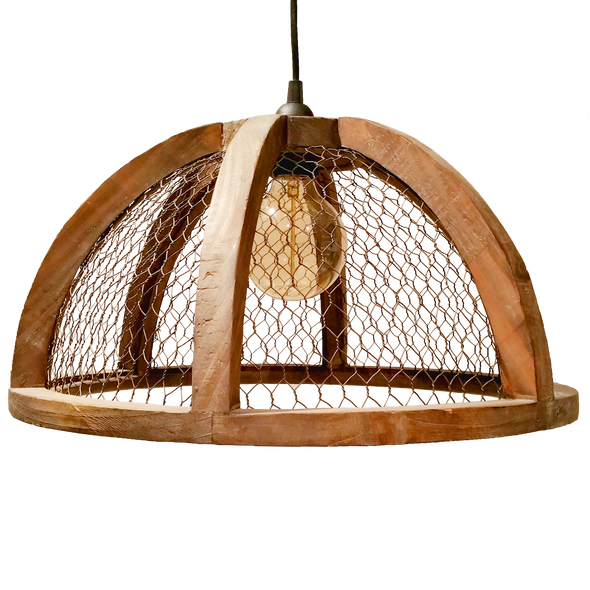 110231 Wood Barn Pendant