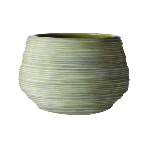 223042 Gray Corrugated Ceramic Pot-