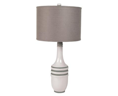 223055 Milk Metro Lamp Gray Shade