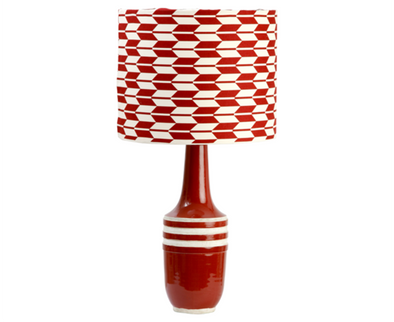 223056R Garnet Aztec Lamp w/ Red Arrow Shade