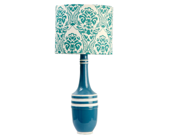 223056 Blue Aztec lamp w/ Paisley Shade (526031)