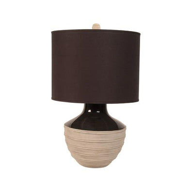 223059 Corrugated Trophy Lamp w/ Black Drum Shade (526005)