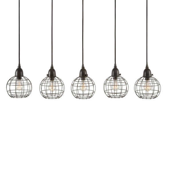 225064 Inline 5 Wire Ball Hanging Lamp