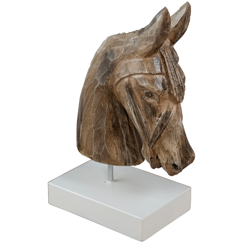 228030	Horse on base , wood