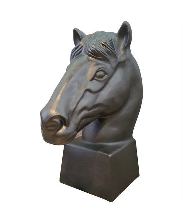 228049-B Black Horse sculpture