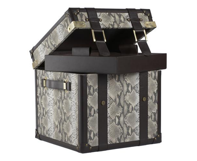 284041 Faux Snake Steamer Trunk
