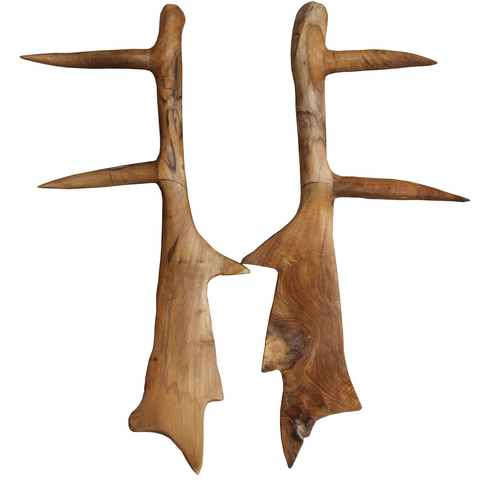 228060 Hand Carved Antler Set