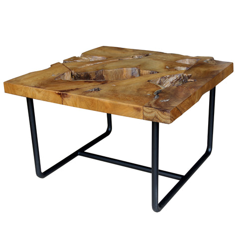 310115	Gorgo Teak Root Coffee Table W/ Metal Leg