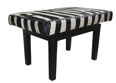 310178 Marco Small Faux Zebra Bench