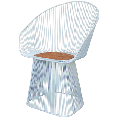 310184	Supra White Wire  Chair