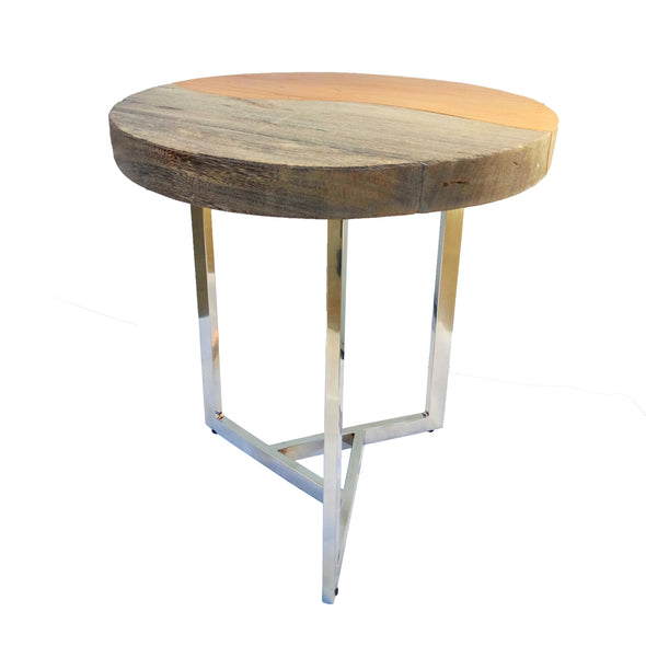 321269 Porker Suarwood & Stainless Steel Side Table