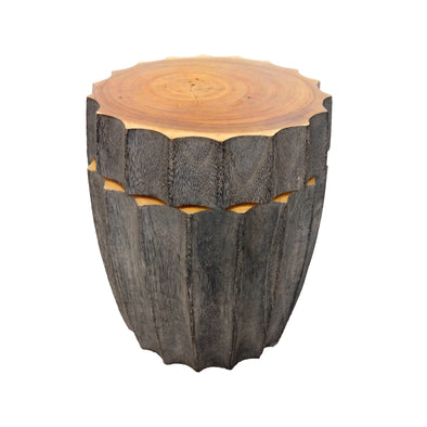 321273	Bottle Top Swivel stool/ side table - Suar wood