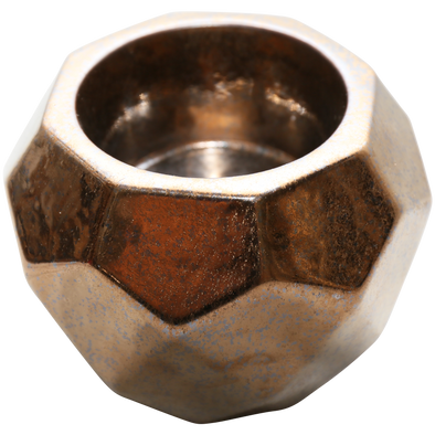 400064	Charmed Pillar Candle Holder Burnt Alloy 14 x 11h Resessed area for pillar 7 x 5 depth