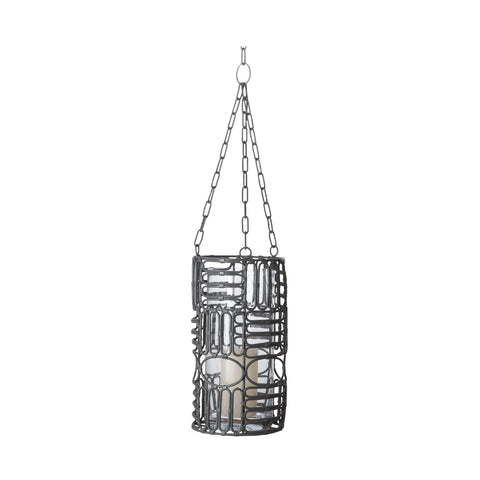 466010 Weathered Gray Oval Ring Lantern