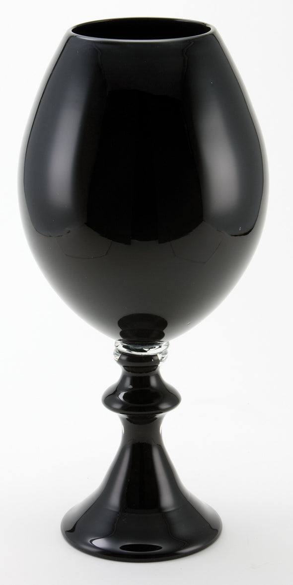 542001		Black Globe Vase with Foot