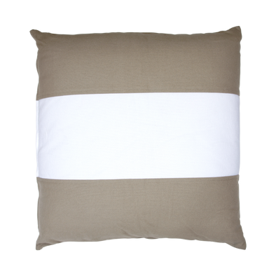 600027BRONTE OVERSIZE CUSHION - White Stripe- 70 x 70
