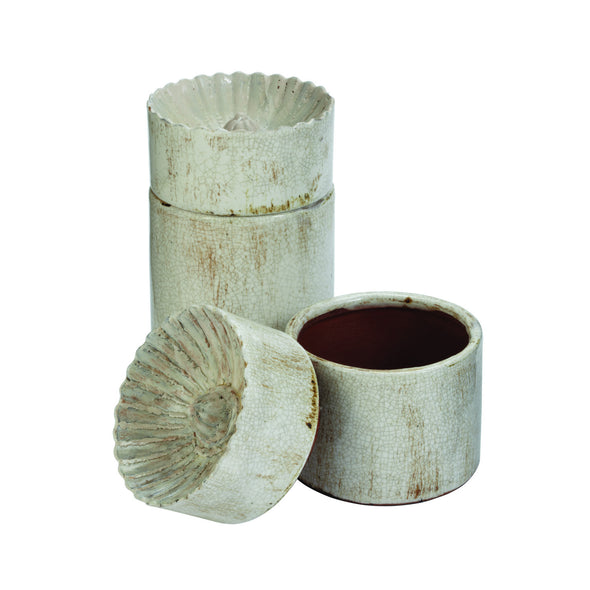 749086/ 749087 Aged Scalloped Ceramic Cup