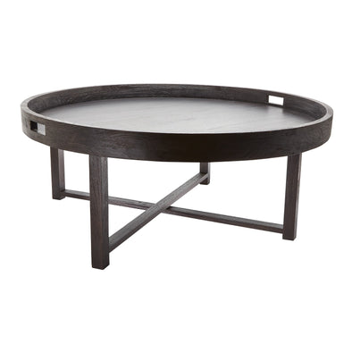 784059 Round Coffee Table Tray with Foldin