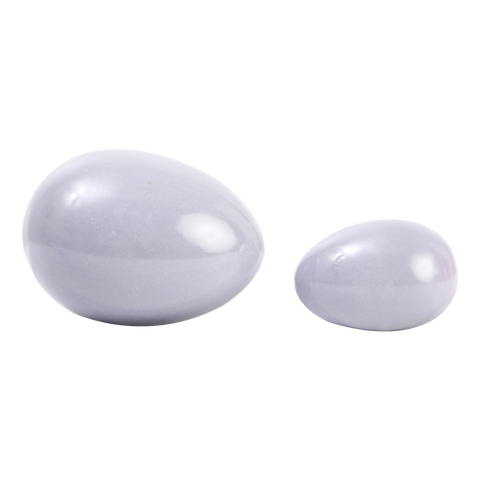 S130029 Set of 2 Pale Grey Egg small & large