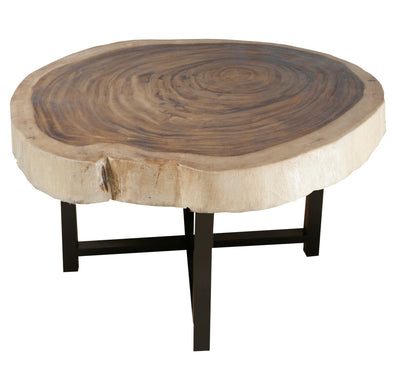 310115	Kuros Natural Wood Coffee Table w/ black wood leg