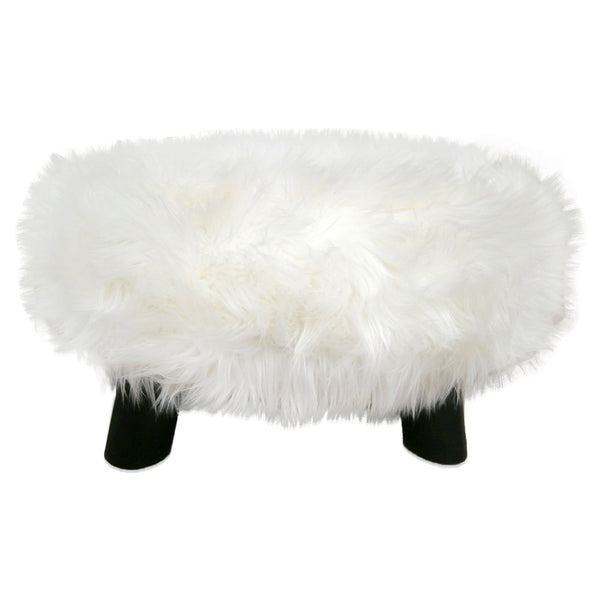 321030 Large Round Faux Sheep Stool