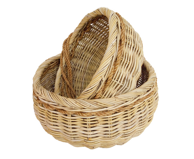 160370 Rattan Rope Baskets Set of 2