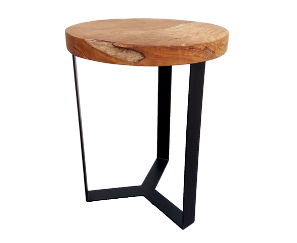 321821	Flora Table - Teak Wood Top w/ metal legs