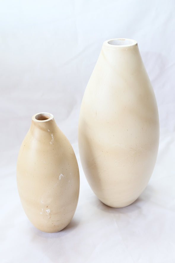 S160382 S/2 Hurry Wood Vase - Large & Small