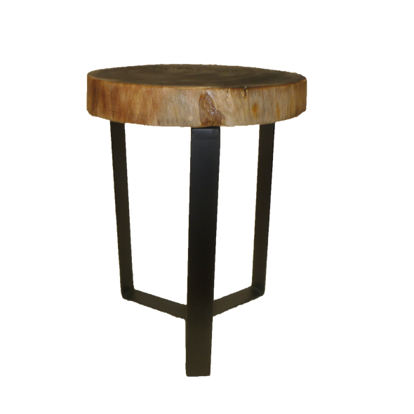 321400	Charred Suar wood Table W/ Metal Legs
