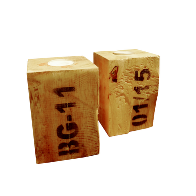 Pallet Block Tea Light Holders - Set of 2