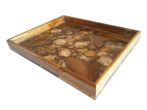 100311	Gold Teak & Resin Tray 1