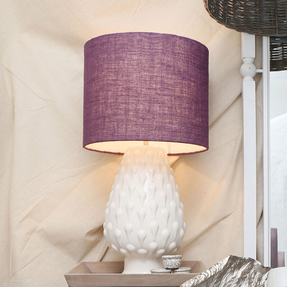110500-purple Artichoke Lamp with Purple Shade
