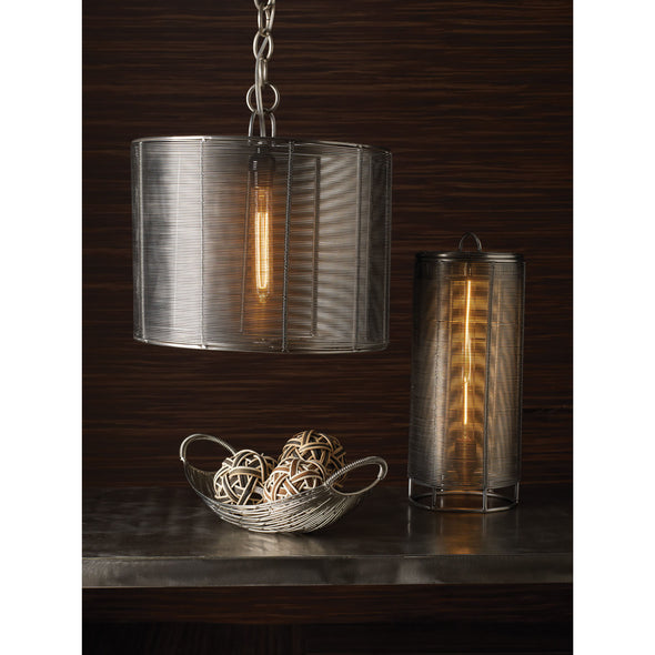 626010 Steel Wrapped Wire Drum Lamp