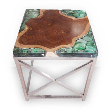 321038 Square GREEN Side Table