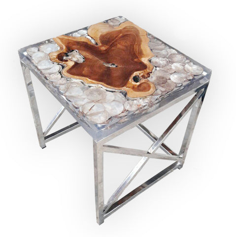 321037 Square GOLD Side Table