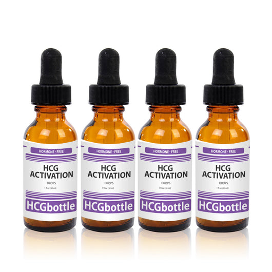 HCG Activation Drops, 80 Day Program (4 bottles) – Natural HCG Alternative
