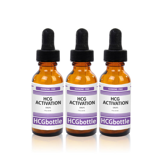 HCG Activation Drops, 60 Day Program (3 bottles) – Natural HCG Alternative